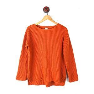 J. Jill S sweater ribbed orange wool blend knit